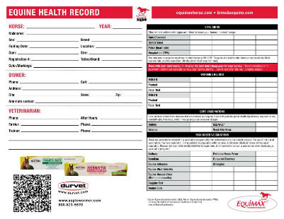 Records Equine Health T