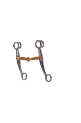 "SS Breaking Bit 4.5"" Cooper Snaffle Mouth 6"" Cheek - Coastal Ag Supply"